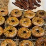 Banana Cinnamon Baked Donuts with Coconut Glaze