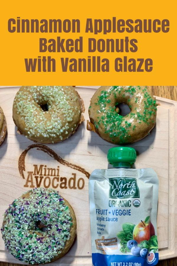 Cinnamon Applesauce Baked Donuts Pinterest Image