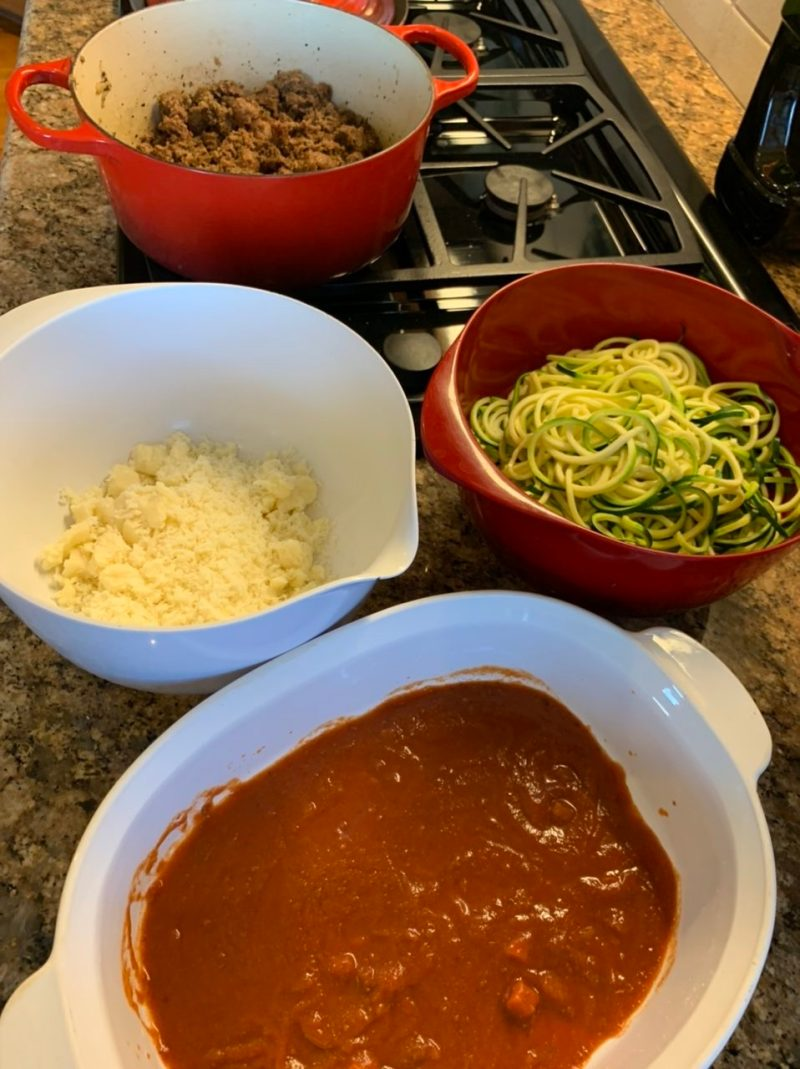 components of zoodle lasagna