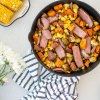 Easy Summer Steak Skillet recipe, healthy and delicious dinner recipe! This simple and healthy dinner recipe is full of fresh seasonal vegetables and steak for a healthy dinner recipe that everyone is sure to love. Easy healthy dinner recipe, the best steak skillet recipe with corn on the cob and veggies. #organicdinner #steakskillet #skilletrecipe #summerdinner #healthydinner #easydinner #dinnerrecipe