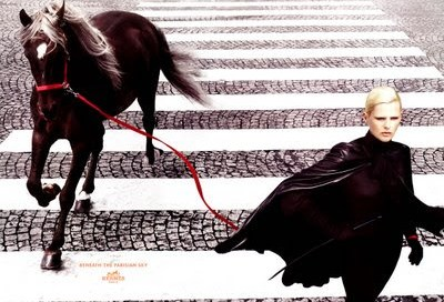 hermes campaign with horse
