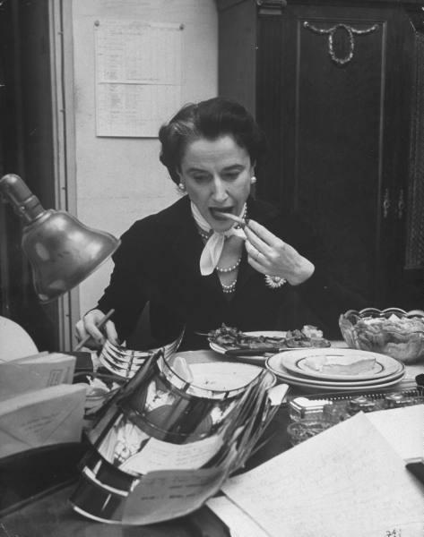 bettina ballard paris feb 1951 3 late dinner
