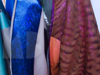 Esther Kruyer designed some of her own fabrics, the multi colored one reminiscent of a discoball was our favorite.