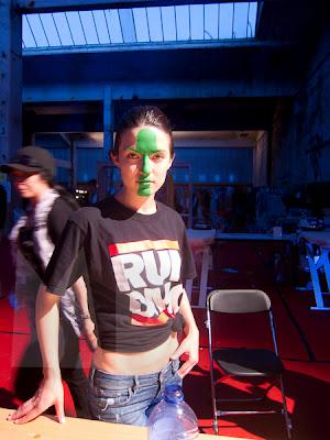 Backstage make-up by Ferry van der Nat