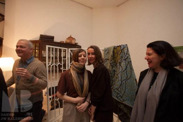 Armand Mevis, graphic designer, Lucy McKenzie, Beca Lipscombe and Ann Goldstein