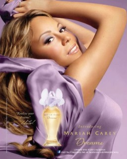 Mariah Carey in her own perfume ad