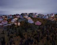 Landscape with Houses, (Dutchess County, NY) #3, 2009, digital chromogenic print, size variable