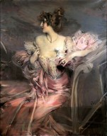 """This painting represents """"demimondaine"""" Marthe de Florian, the owner's grandmother, and was sold for record price of 2,1 million euros at Drouot saleshouse on September 2010, 28. / MARC OTTAVI, Place: Paris,FRANCE, (credit AFP)"""