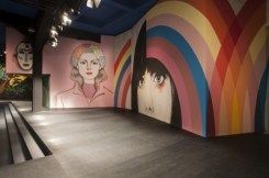"""3-Runway Mural by GABRIEL SPECTER, """"Colorful Women"""" at the Prada show S/S 2014"""