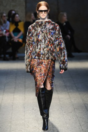 Multicoloured bird at Sportmax