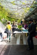 Courtyard at Spazio Rossana Orlandi, Milan April 2014