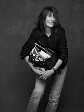 "Jane Birkin with ""her"" bag by Hermès . Photography by Karl Lagerfeld, styling by Carine Roitfeld taken from their book The Black Jacket (via mybirkinblog.blogspot.nl)"
