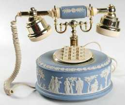 Telephone in the Cream Color On Lavender Jasperware pattern by Wedgwood China