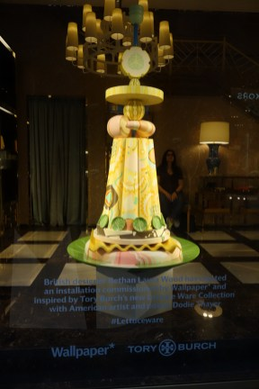 Dodie Thayer for Tory Burch, installation by Bethan Laura Wood commissioned by Wallpaper* magazine / Via della Spiga