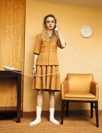 Normcore. From Dazed Autumn/Winter 2014 issue: all clothes and jewellery by Chanel; socks by Hanes Photography Charlie Engman, styling Emma Wyman