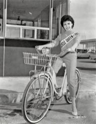 "Bicycle Queen: 1959. March 20, 1959. ""Sixteen-year-old actress Annette Funicello, Bicycle Queen of 1959."" New York World-Telegram and Sun Photo Collection."