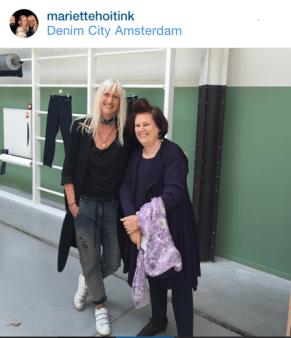 Suzy M & Marriette Hoitink, Dutch fashion consultant, , at Denim City, Amsterdam