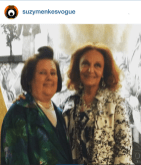 Suzy M & Diana vov Furstenberg, american fashion designer, at Bozar in Brussels