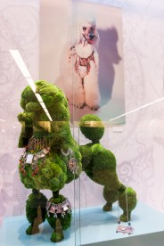 The first Gem Kingdom collection 1990. Showcased on a giant poodle made with moss by Andreas Verheijen.