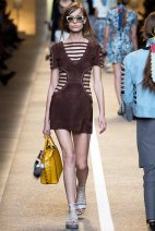Little suede dress at Fendi