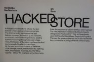 Hacked Store at the Temporary Fashion Museum