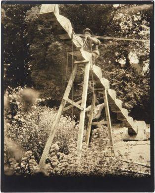 PHILLIPS : NY040313, EDWARD STEICHEN, Brancusi, Endless Column in Steichen's Garden, Voulangis, France