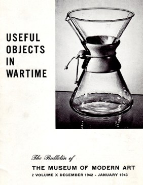 "1942 MoMA brochure ""Useful Objects in Wartime"""