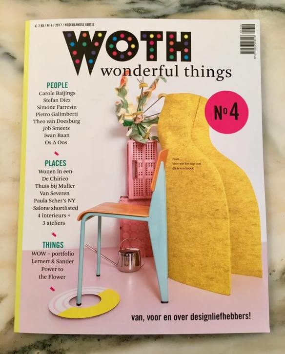 On the cover of WOTH Wonderful Things Magazine nr. 4