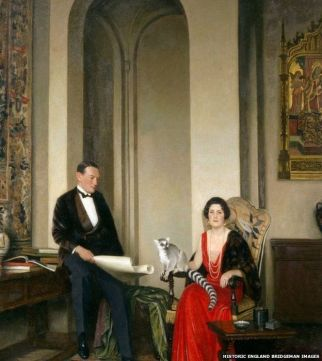 The Courtalds portrait painted by Leonard Campbell Taylor in 1934