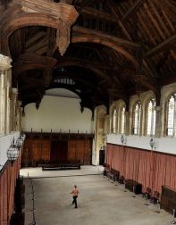 Royal heritage: The Great Hall of the palace was refurbished in the 1930s, saving what had been the childhood home of Henry VIII