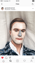 Gustav Brostrom's Beauty Multi Masks on Instagram