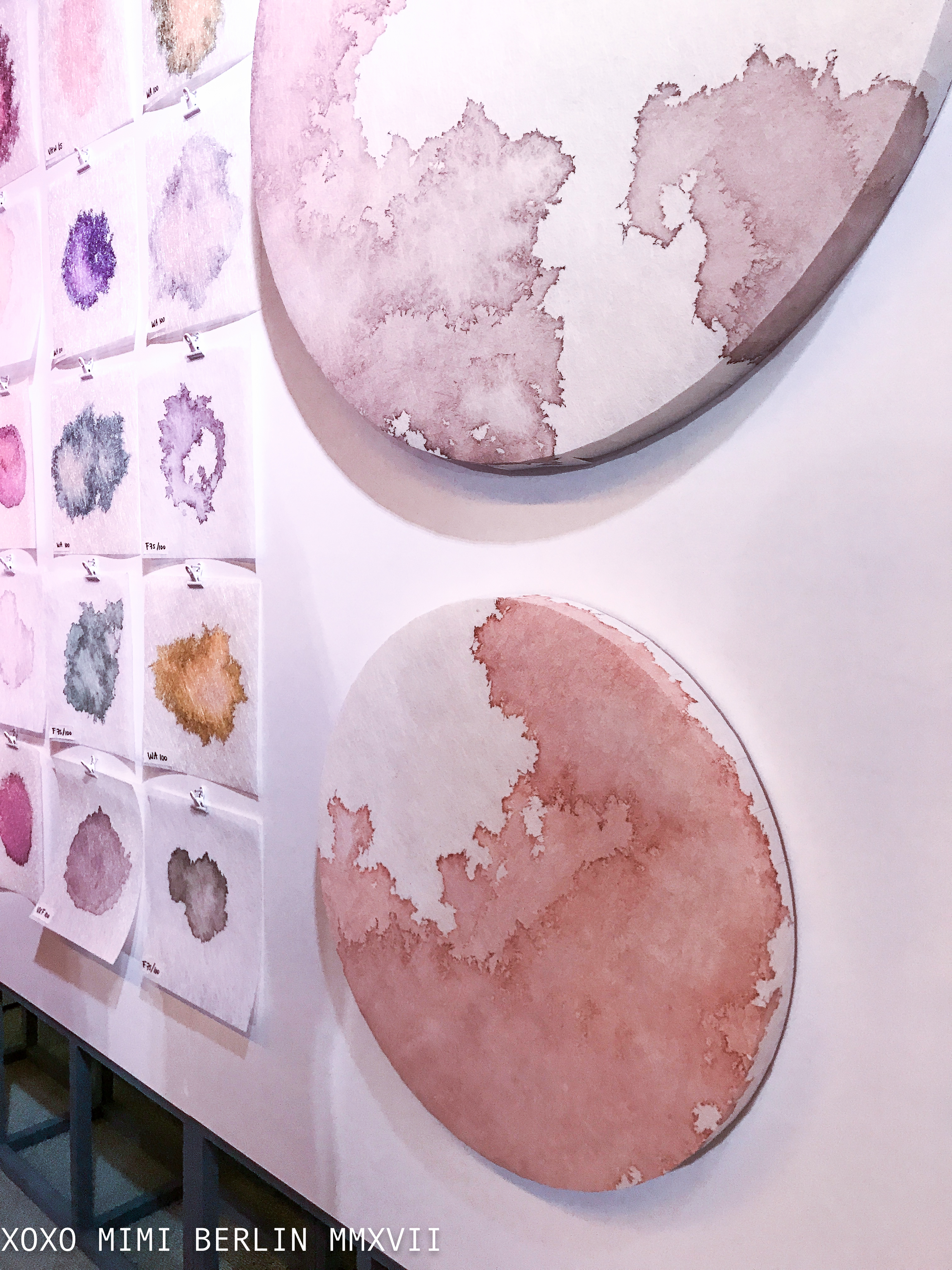 Mieke Lucia created acoustic panels made with Colback®, including the presentation of her 'Color Colback® Research Palette'.