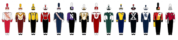 American Marching Bands and Dancer Teams