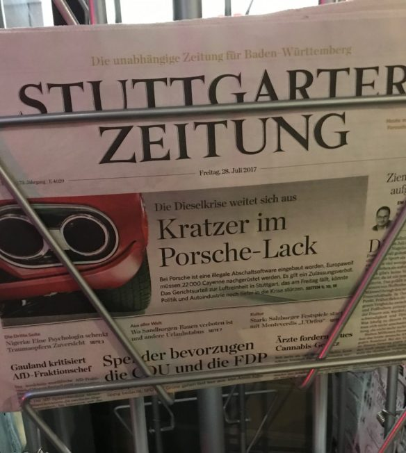 kratzer im Porsche-Lack stuttgarter zeitung frontpage