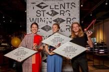 Young Talents: Lisa Konno, Olivier van Herpt and Manon van Hoeckelat Dutch Design Award Night.