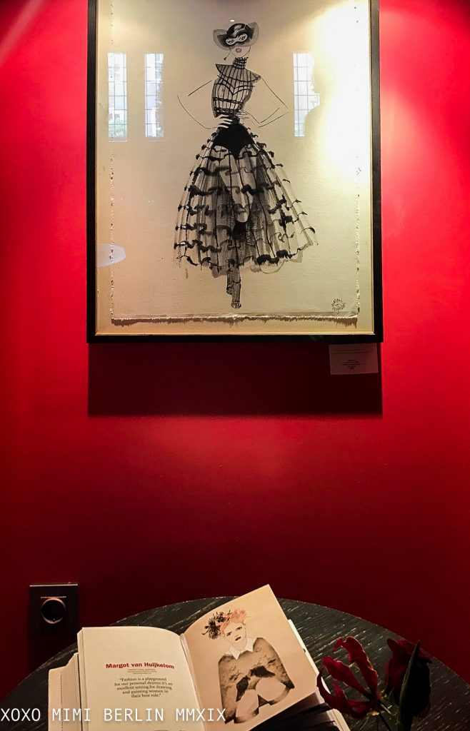 Margot van Huijkelom, Dutch Fashion Illustrator on exhibit at the Grand Hotel