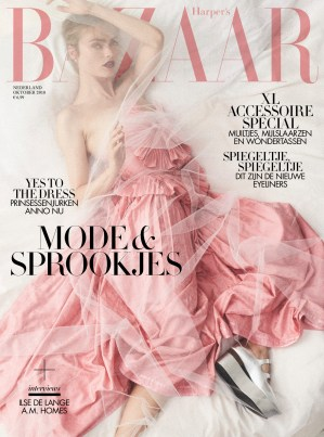 harpers bazaar october issue 2018 cover
