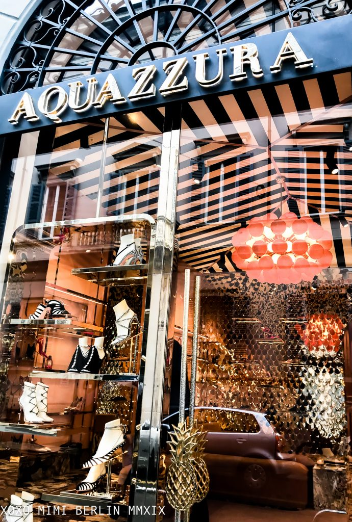 Aquazzura, a shop disguised as a circus-tent