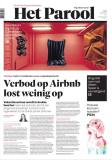 Big Art in the Amsterdam newspaper. Photo by Herr Kaldenbach