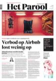Big Art in the Amsterdam newspaper. Photo by Herr Kaldenbach