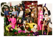 Mimi Berlin's Fashion-Fest #5; Season's Greetings, December 2015. From left to right: Mimi Berlin, December 2015.