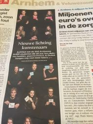 JW Kaldenbach & Mimi Berlin student portraits in local newspaper 'De Gelderlander', june 2016