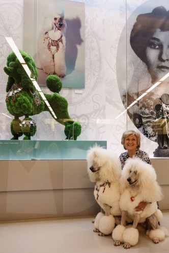 Real life poodles at the opening.