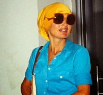Jackie Kennedy/Onassis in a Headscarf