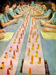 Girls Working the Assembly Line