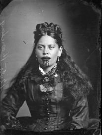 Carte de visite portrait of Beti Karaitiana, taken, probably in the 1870s, by Samuel Carnell of Napier.