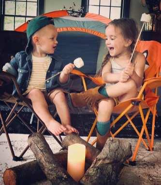 Addi & Max camping 4