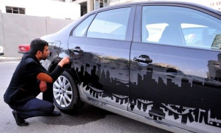 Turning dusty cars into works of art