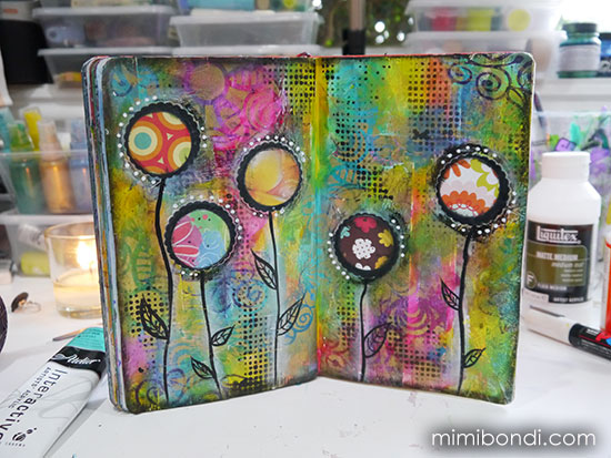 Studio Time 5 - learn mixed media tutorial with Mimi Bondi