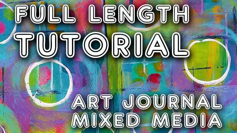 "Free art journal tutorial ""Round and Round"" (Studio Time 28)"